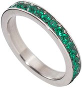 birthstonerings4u Birthstone Eternity Ring~May~Stainless Steel~Cubic Zirconia CZ Band~Emerald~Green Crystals~Stackable~Mother's Ring~Children's Ring~Women's Jewelry