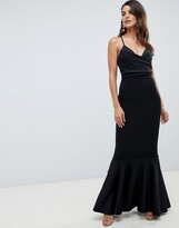 Asos Design DESIGN scuba cami pephem maxi dress