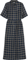 Mother of Pearl Florian checked cotton and silk-blend organza midi dress