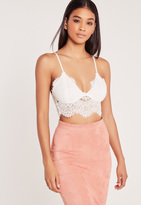 Missguided Corded Lace Bralet White