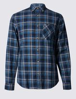 Marks and Spencer Pure Cotton Long Sleeve Checked Shirt
