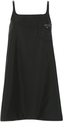 Prada Logo Pocket Slip Dress