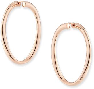 Milani Alberto 18k Rose Gold Electroform Hoop Earrings