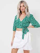 MinkPink Roses Are Red Ditty Wrap Crop Top