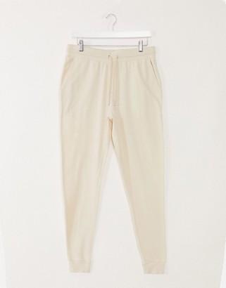 ASOS DESIGN lightweight super skinny joggers in beige