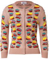 L'Wren Scott L\'Wren Scott Blush-Multi Sequined Hat Cashmere-Blend Cardigan