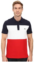 Lacoste Short Sleeve Color Block Textured Pique Polo