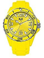 Haurex H2X Women's SY382DY1 Reef Luminous Water Resistant Yellow Soft Rubber Watch