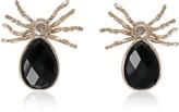 Bernard Delettrez Giant Spider Earrings w/ Onyx