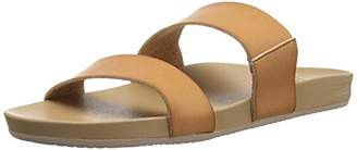 Reef Women's Sandals Cushion Bounce Vista | Vegan Leather Slides for Women With Cushion Bounce Footbed