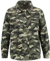 New Look Petite Denim jacket green
