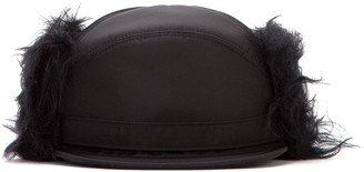 Prada Faux Fur Baseball Hat