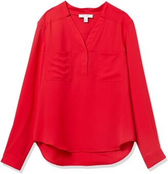 Nine West Women's LS Two Pocket Blouse