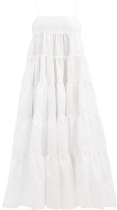 Cecilie Bahnsen Eloisa Tiered Taffeta Dress - White