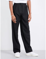 Raf Simons Wide-leg Cropped Wool Trousers