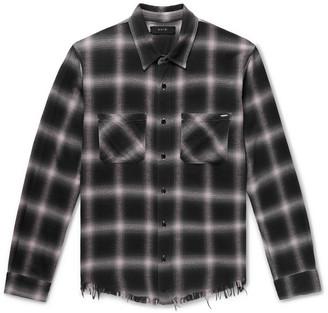 Amiri Checked Cotton-Flannel Shirt