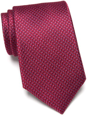 Nordstrom Barch Micro Pattern Extra Long Silk Tie