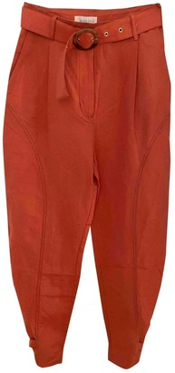 Steele Melbourne Orange Cloth Trousers for Women