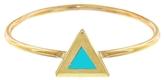Jennifer Meyer Turquoise Inlay Triangle Ring