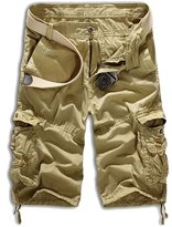SODIAL(R) Men Casual Army Combat Camo Camouflage Overall Shorts Sports Pants 34