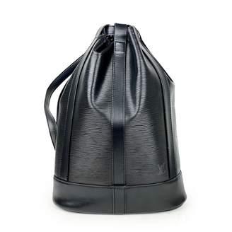 Louis Vuitton Randonnee Black Leather Backpacks