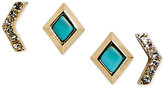 Vera Bradley Gold-Tone 2-Pc. Set Stone and Crystal Stud Earrings