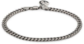 Effy Black Rhodium-Plated Sterling Silver Miami Cuban Link Chain Bracelet