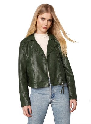 BB Dakota Snake It Or Break It Vegan Leather Jacket
