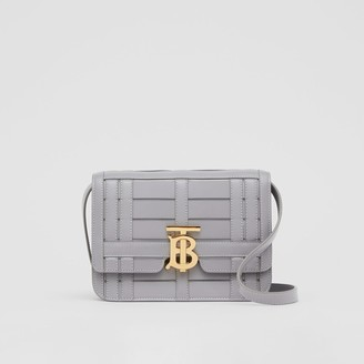 Burberry Small Woven Leather TB Bag