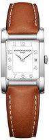 Baume & Mercier Hampton ladies' brown leather strap watch