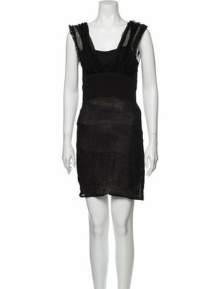 Opening Ceremony Square Neckline Mini Dress w/ Tags Black