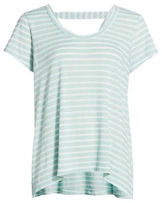 Wilt Open-Back Striped T-Shirt