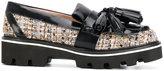 MSGM woven tassel platform loafers