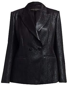 Marina Rinaldi Marina Rinaldi, Plus Size Women's Elegante Casetta Lurex Double-Breasted Blazer