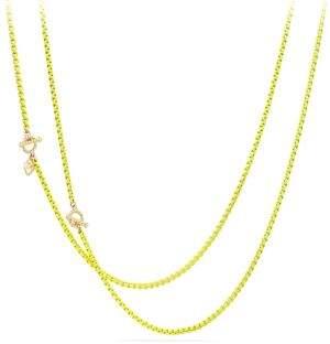 David Yurman Bel Aire 14K Gold & Yellow Enamel Chain Necklace