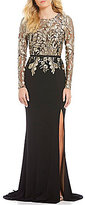 Terani Couture Embroidered Bodice Gown