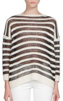 Saint Laurent Long Sleeve Striped Sweater