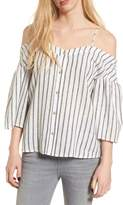 BP Stripe Off the Shoulder Top