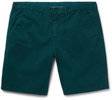 Paul Smith Slim-fit Stretch-cotton Twill Shorts - Emerald