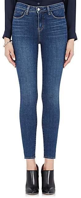 L'Agence Women's Margot High-Rise Skinny Crop Jeans - Dk. Blue
