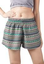 Lofbaz Women's Printed Lace Summer Shorts Orange L