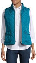 ST. JOHN'S BAY St. John's Bay Quilted Puffer Vest