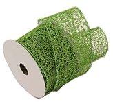 Renaissance 2000 2.5-Inch x 10yd Weaving Holiday Mesh Ribbon, Small, Green