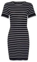 Dorothy Perkins Womens Black Striped Knitted Dress, Black