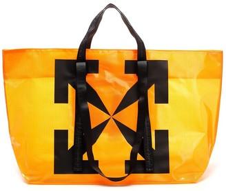 Off-White Logo Printed Shopper Bag