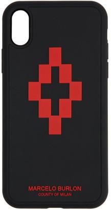 Marcelo Burlon County of Milan Black 3D Cross iPhone XR Case