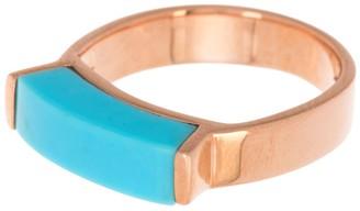 Monica Vinader 18K Rose Gold Vermeil Linear Turquoise Stone Ring