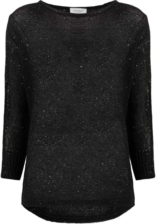 Snobby Sheep embellished fine knit sweater