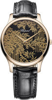 Chopard L.U.C XP Urushi 18ct rose-gold and leather watch