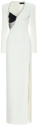 David Koma Embellished cady gown